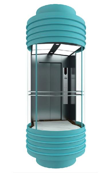 WBJX-G-03 Panoramic Elevator Car